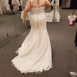 Size 16 Wedding dress NEVER WORN from Davids